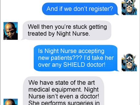 Texts From Superheroes: The Nurse Is In