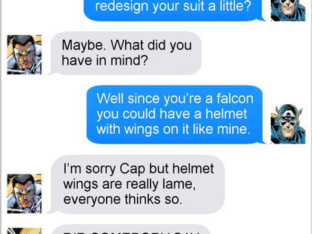 Texts From Superheroes: Helmet Wings