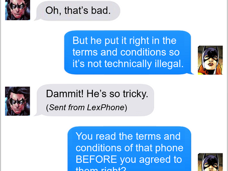 Texts From Superheroes: Phoning It In