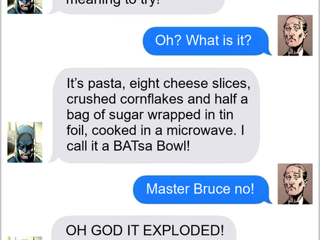 Texts From Superheroes: Inventing At Home