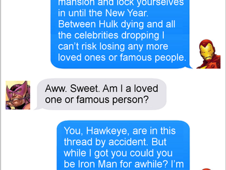 Texts From Superheroes: Save The Date