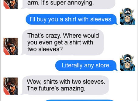 Texts From Superheroes: Heart On Your Sleeve