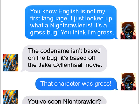 Texts From Superheroes: Bugging Me