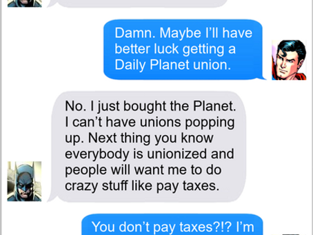 Texts From Superheroes: The Justice Union