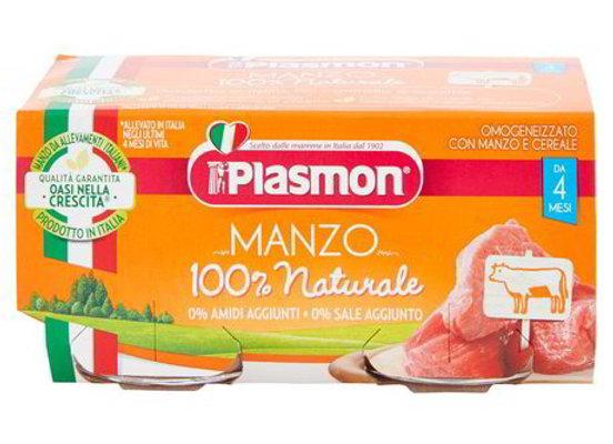 2 Omogeneizzati Manzo Plasmon 80gr