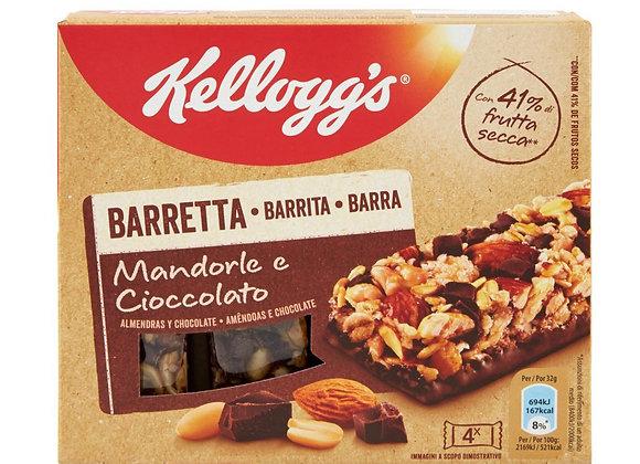 4 Barrette Mandorle Cioccolato Kellogg's