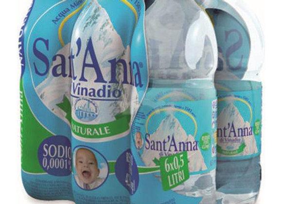 6 Acqua S.Anna Naturale 50cl