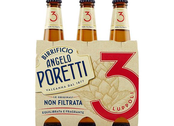 Birra 3 Luppoli Poretti 3x33cl