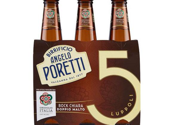 Birra Bock 5 Luppoli Poretti 3x33cl
