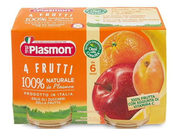 2 Omogeneizzati 4 Frutti Plasmon 104gr