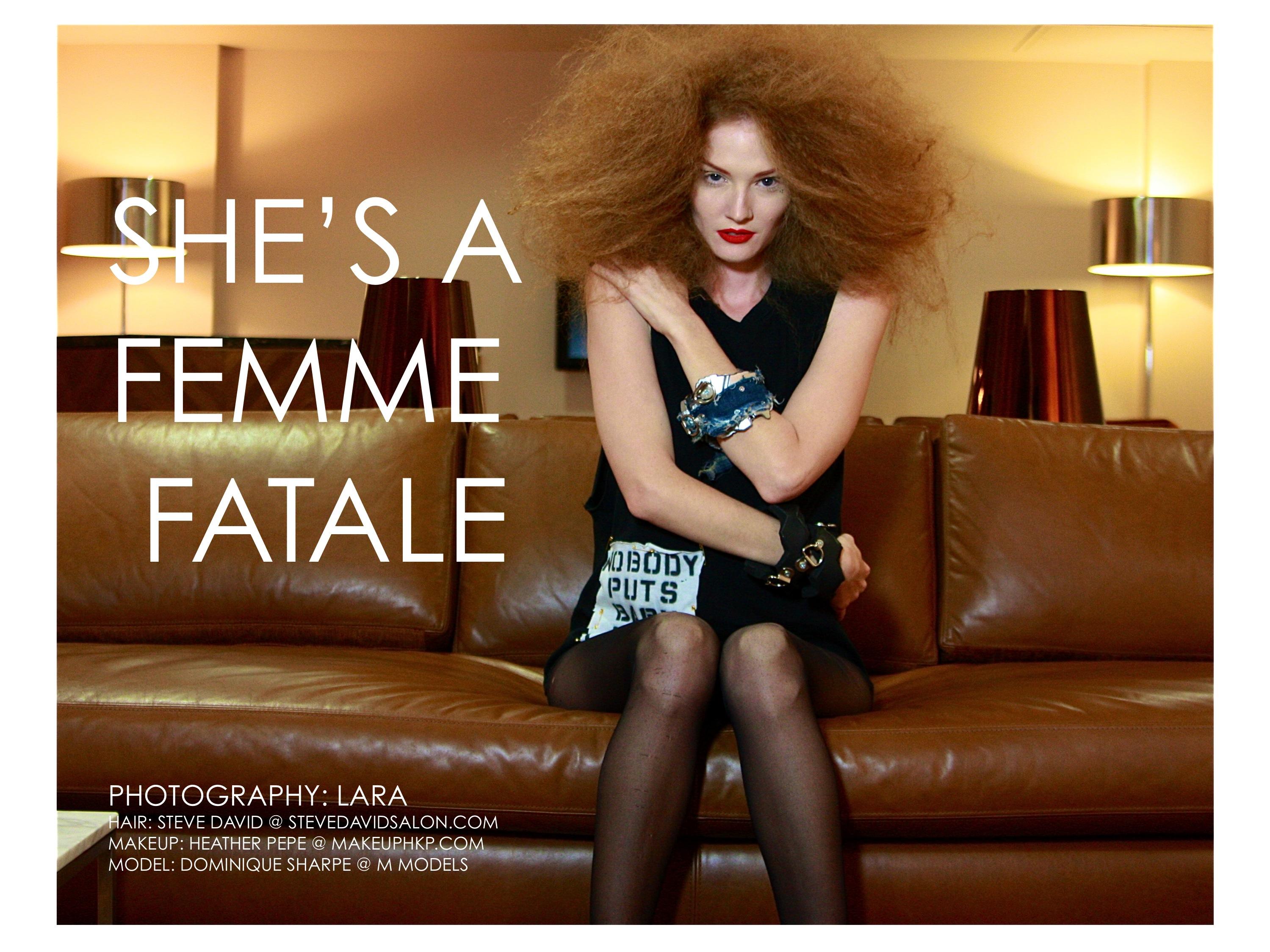 FEMME FATALE /ph- LARA