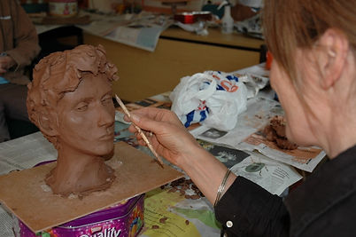 portrait sculpture lesson, Kent