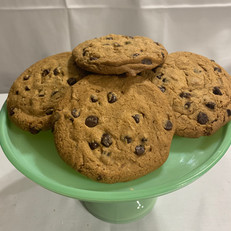 Giant Chocolate Chip Cookies.