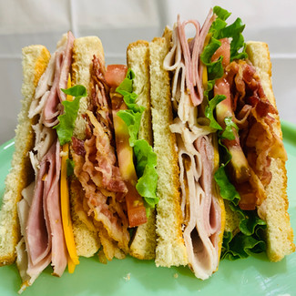 Ham-Turky Club Sandwich.