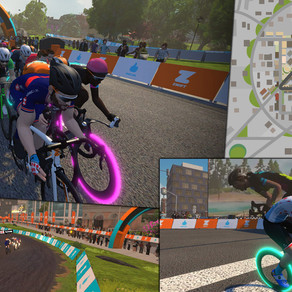 The benefits of crit racing at home on Zwift