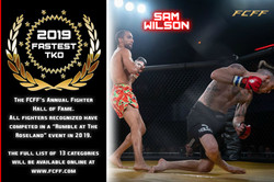 2019 HALL OF FAME - FASTEST TKO
