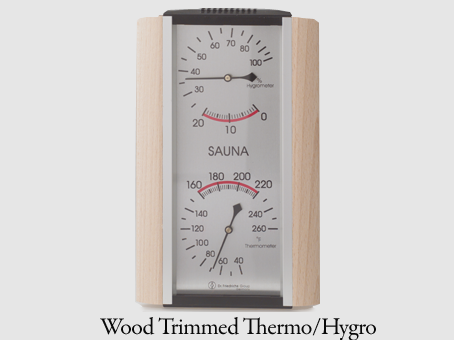 Wood Trimmed Thermo/Hygro