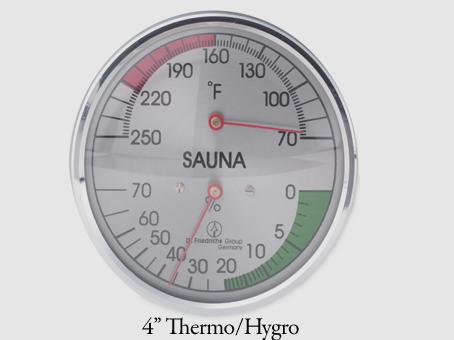 "4"" Thermo/Hygrometor"