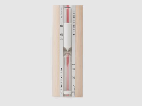 Sand timer: Metallic and wood