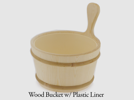 1.0 gallon Wooden Bucket