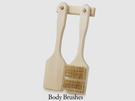 Body Brush Set: 2 Brushes & Holder