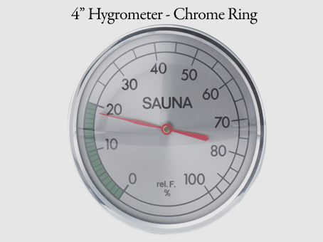 "4"" Hygrometer - chrome ring"