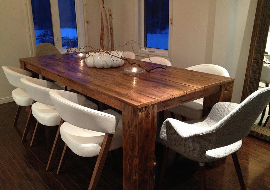 vieille planche meubles bois de grange quebec demolition table hemlock. Black Bedroom Furniture Sets. Home Design Ideas