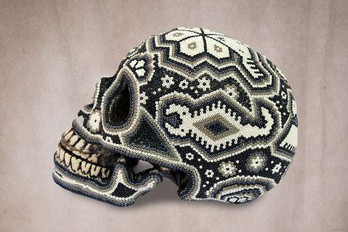 "Huichol Art ""Calavera Blanca"""