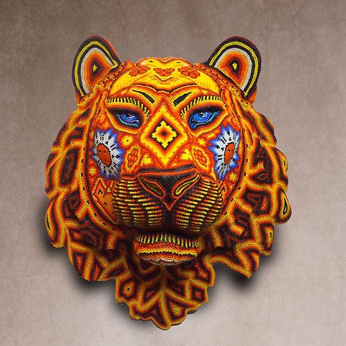 """Huichol Art: """"Magic Tiger"""""""