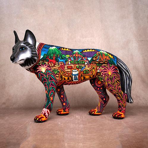 """Huichol Art """"Loup Samirawi"""""""