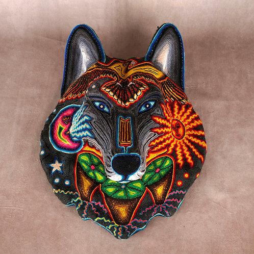 """Huichol Art """"Loup Samirawi 2"""""""