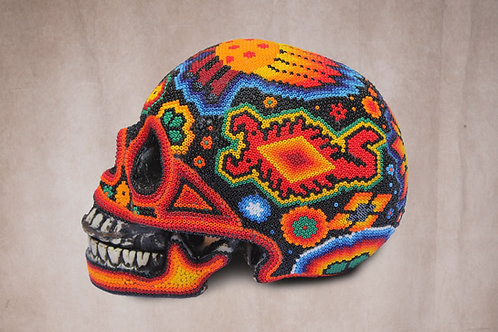 "Huichol Art ""Calavera"""