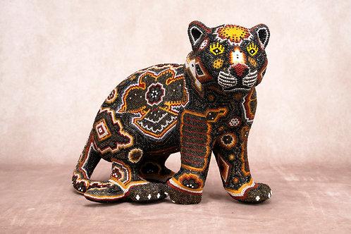 """Huichol Art """"JAGUAR I"""""""