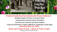 MAY DAY! MAY DAY! MAY DAY! Playing on the Porches is BACK! May 1st!