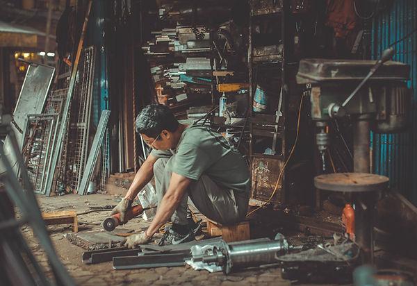 Hersteller in der Werkstatt