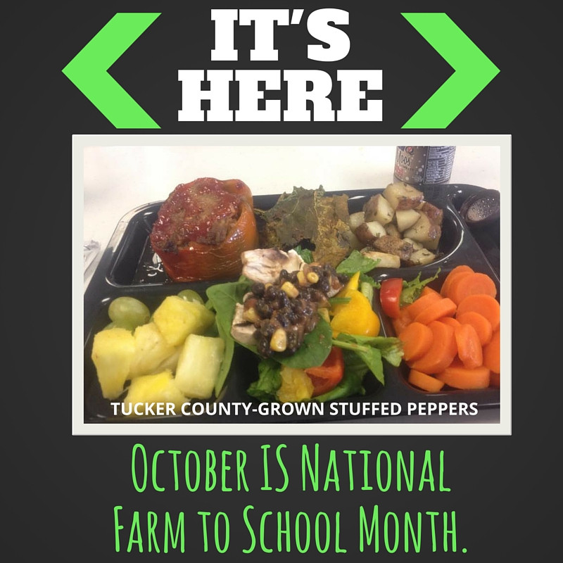 It's HERE. October IS National Farm to School Month.