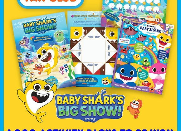 Free Baby Shark Activity Pack
