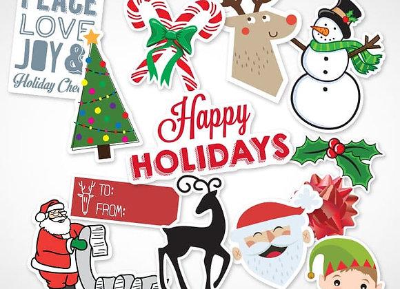 Free Christmas Stickers