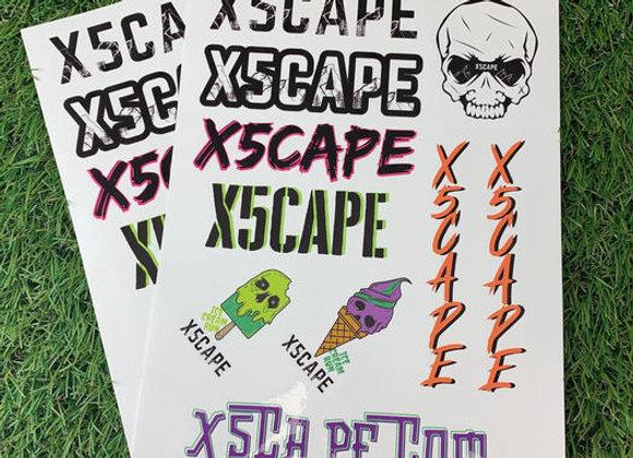 Free X5CAPE Sticker Sheet