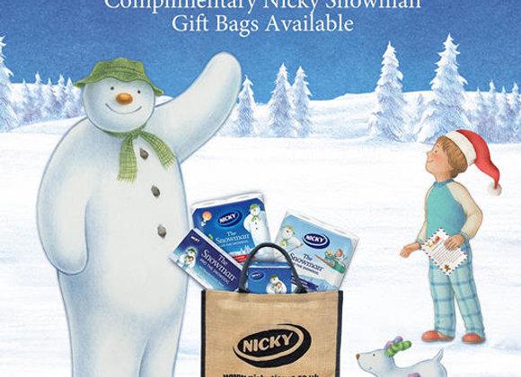 Free Nicky Snowman Gift Bag
