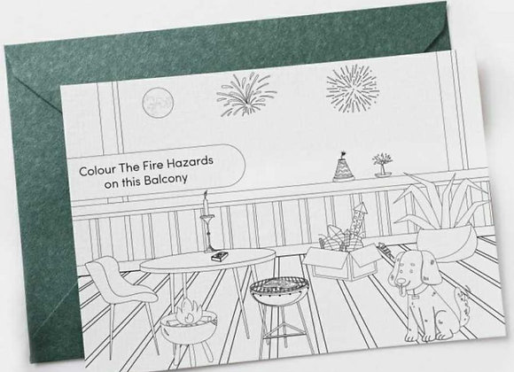 Free Skize Colouring In Postcard