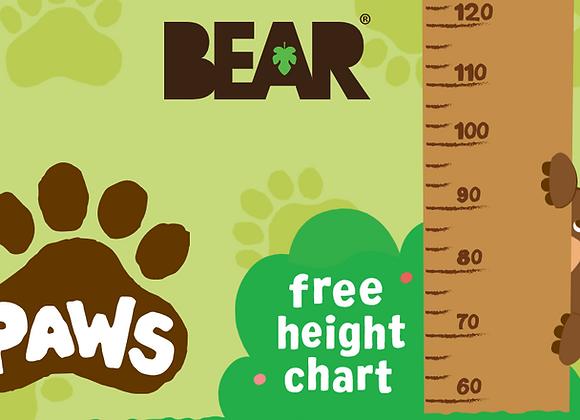 Free Bear Kids Height Chart