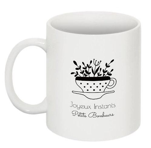 "Mug fleurs ""Collection Joyeux Instants"""