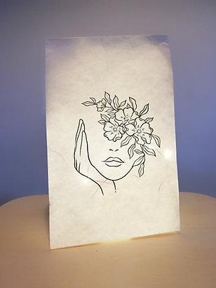 "Sac lumineux femme fleurs ""Les Joyeuses Lumières"""