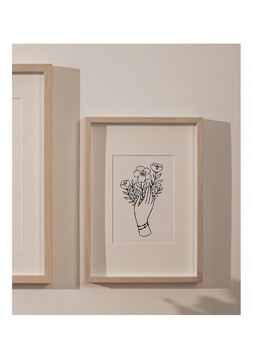 "Affiche A6 Main ""Collection POESIE"""