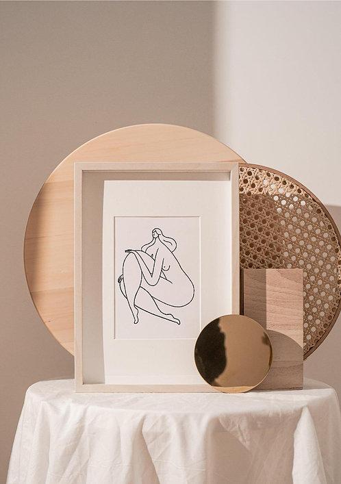 """Affiche A4 Cécile Collection """"LES BELLES"""""""