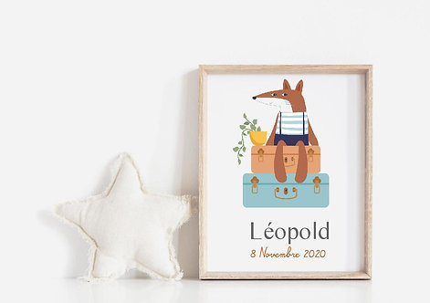 """Affiche LOUP """"Collection Kids"""""""