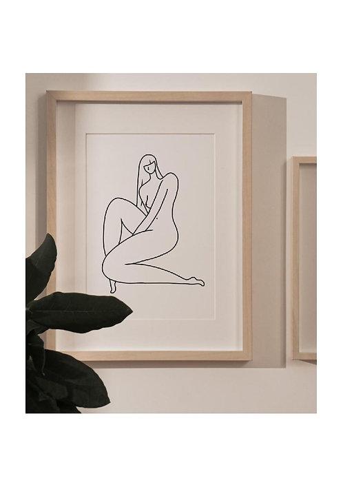 """Affiche A5 Odile Collection """"LES BELLES"""""""