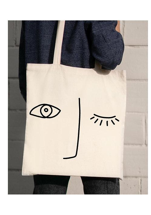 "Tote bag oeil collection ""LIGNE"""