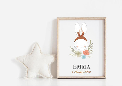 """Affiche Lapin """"Collection Kids"""""""